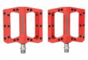 Paire de Pédales Plates Fluide Pression Rouge