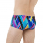 SPEEDO Fizz Bounce -  14cm Allover Brief - Purple/Green- Boxer Natation Homme