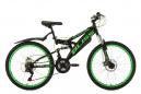 VTT Tout-Suspendu Enfant KS Cycling Bliss 24'' Shimano Tourney 6V Noir Vert