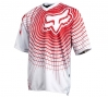 FOX PROMO 2011 Maillot Manches Courtes 360 Blanc/Rouge Taille M